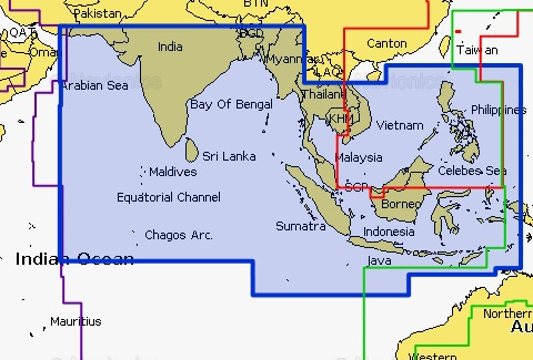 Navionics Gold 31XG Indian O-S China Sea - Rcom